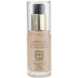 Max Factor Facefinity make-up 3 az 1-ben árnyalat 45 Warm Almond SPF20  30 ml