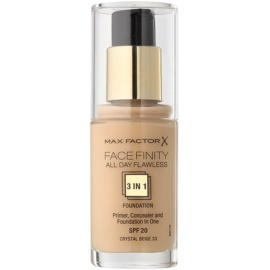Max Factor Facefinity make-up 3 v 1 odstín 33 Crystal Beige  30 ml