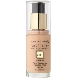 Max Factor Facefinity Foundation 3 in 1 Shade 35 Pearl Beige  30 ml
