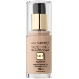 Max Factor Facefinity Foundation 3 in 1 Shade 40 Light Ivory  30 ml