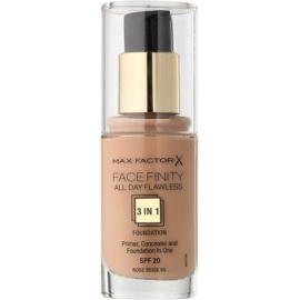 Max Factor Facefinity Foundation 3 in 1 Shade 65 Rose Beige  30 ml