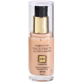 Max Factor Facefinity Foundation 3 in 1 Shade 47 Nude  30 ml
