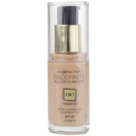 Max Factor Facefinity make-up 3 az 1-ben árnyalat 75 Golden SPF20  30 ml