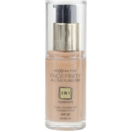 Max Factor Facefinity Foundation 3 in 1 Shade 80 Bronze SPF20  30 ml