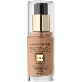 Max Factor Facefinity make-up 3 az 1-ben árnyalat 77 Soft Honey  30 ml