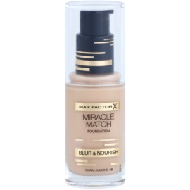 Max Factor Miracle Match make up lichid  cu efect de hidratare culoare 45 Warm Almond 30 ml