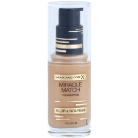 Max Factor Miracle Match make up lichid  cu efect de hidratare culoare 75 Golden 30 ml