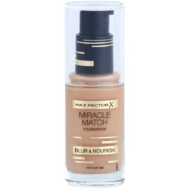 Max Factor Miracle Match Liquid Foundation With Moisturizing Effect Shade 80 Bronze 30 ml
