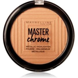 Maybelline Master Chrome rozjasňovač odstín 100 Molten Gold 8 g