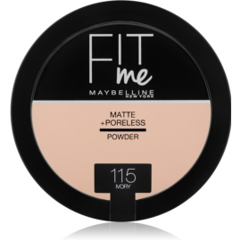 Maybelline Fit Me! Matte+Poreless pudra matuire culoare 115 Ivory 14 g