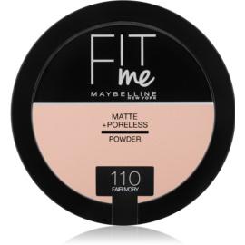 Maybelline Fit Me! Matte+Poreless pudra matuire culoare 110 Fair Ivory 14 g