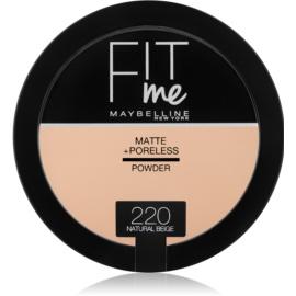 Maybelline Fit Me! Matte+Poreless pudra matuire culoare 220 Natural Beige 14 g