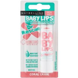 Maybelline Baby Lips Dr Rescue bálsamo hidratante para labios con efecto frío  tono Coral Crave 4,4 g