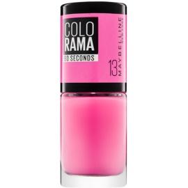 Maybelline Colorama 60 Seconds rychleschnoucí lak na nehty odstín 13 Princess 7 ml