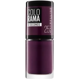 Maybelline Colorama 60 Seconds rychleschnoucí lak na nehty odstín 25 Plum 7 ml