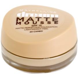 Maybelline Dream Matte Mousse matirajoči tekoči puder odtenek 20 Cameo 18 ml