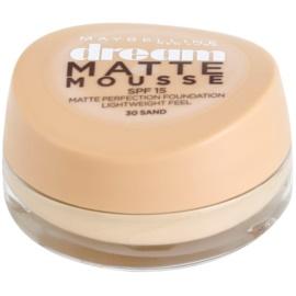 Maybelline Dream Matte Mousse matirajoči tekoči puder odtenek 30 Sand 18 ml