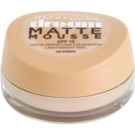 Maybelline Dream Matte Mousse mattító make-up árnyalat 40 Fawn 18 ml