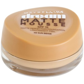 Maybelline Dream Matte Mousse mattító make-up árnyalat 48 Sun Beige 18 ml