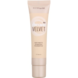 Maybelline Dream Velvet hedvábně jemný make-up s matným efektem odstín 01 Natural 30 ml
