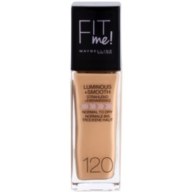 Maybelline Fit Me! folyékony make-up az élénk és kisimított arcbőrért árnyalat 120 Classic Ivory 30 ml
