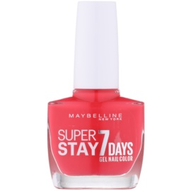 Maybelline Forever Strong Super Stay 7 Days lak za nohte odtenek 490 Hot Salsa 10 ml