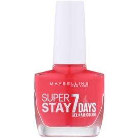 Maybelline Forever Strong Super Stay 7 Days lak na nehty odstín 490 Hot Salsa 10 ml