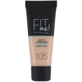 Maybelline Fit Me! Matte+Poreless make up odcień 105 Natural Ivory 30 ml