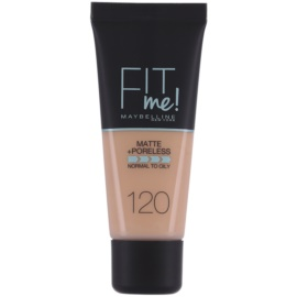 Maybelline Fit Me! Matte+Poreless make up odcień 120 Classic Ivory 30 ml