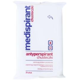 Medispirant Antiperspirant antibakteriálne vlhčené obrúsky obmedzujúce potenie  20 ks