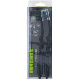 Megasmile Black Whitening Loop Zahnbürste mit Aktivkohle mit verstärktem Griff  2 St.
