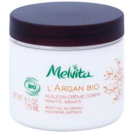 Melvita L'Argan Bio tápláló testápoló krém a finom és sima bőrért  175 ml
