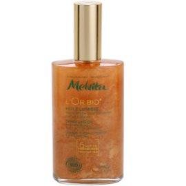 Melvita L'Or Bio glitzerndes Trockenöl für Gesicht, Körper und Haare  100 ml