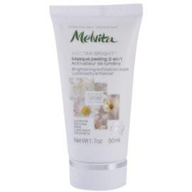 Melvita Nectar Bright mascarilla exfoliante para iluminar la piel  50 ml