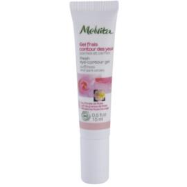 Melvita Nectar de Roses erfrischendes Gel für die Augen gegen Schwellungen und Augenringe  15 ml