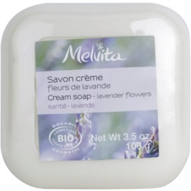 Melvita Savon krémové mýdlo s bambuckým máslem Lavender Flowers 100 ml