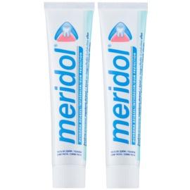Meridol Dental Care Zahnpasta unterstützt die Regeneration von gereiztem Zahnfleisch  2 x 75 ml