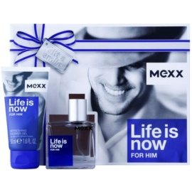 Mexx Life is Now for Him ajándékszett I.  Eau de Toilette 30 ml + tusfürdő gél 50 ml