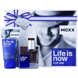 Mexx Life is Now for Him Geschenkset I.  Eau de Toilette 30 ml + Duschgel 50 ml