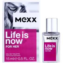 Mexx Life is Now for Her eau de toilette para mujer 15 ml