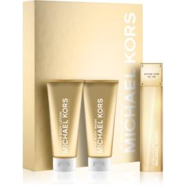 Michael Kors 24K Brilliant Gold Gift Set II.  Eau De Parfum + Body Milk + Shower Gel