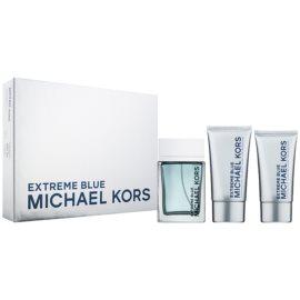 Michael Kors Extreme Blue ajándékszett I. Eau de Toilette 120 ml + tusfürdő gél 75 ml + borotválkozás utáni balzsam 75 ml
