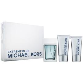 Michael Kors Extreme Blue Geschenkset I. Eau de Toilette 120 ml + Duschgel 75 ml + After Shave Balsam 75 ml