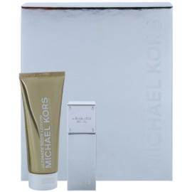 Michael Kors White Luminous Gold подаръчен комплект I. парфюмна вода 50 ml + мляко за тяло 100 ml