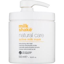 Milk Shake Natural Care Active Milk máscara ativadora de leite para cabelo seco a danificado  500 ml