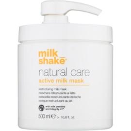 Milk Shake Natural Care Active Milk aktivizáló tejes maszk száraz és sérült hajra  500 ml