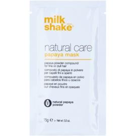 Milk Shake Natural Care Papaya máscara regeneradora para cabelo com papaia  12 un.