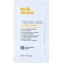 Milk Shake Natural Care Papaya regenerační maska na vlasy s papájou  12 ks