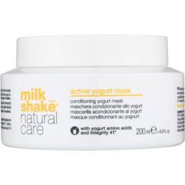 Milk Shake Natural Care Active Yogurt máscara ativadora de iogurte para cabelo  200 ml