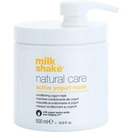 Milk Shake Natural Care Active Yogurt máscara ativadora de iogurte para cabelo  500 ml